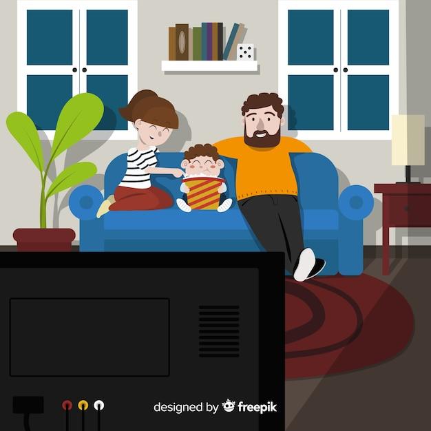 素敵な手描きの家庭 無料ベクター