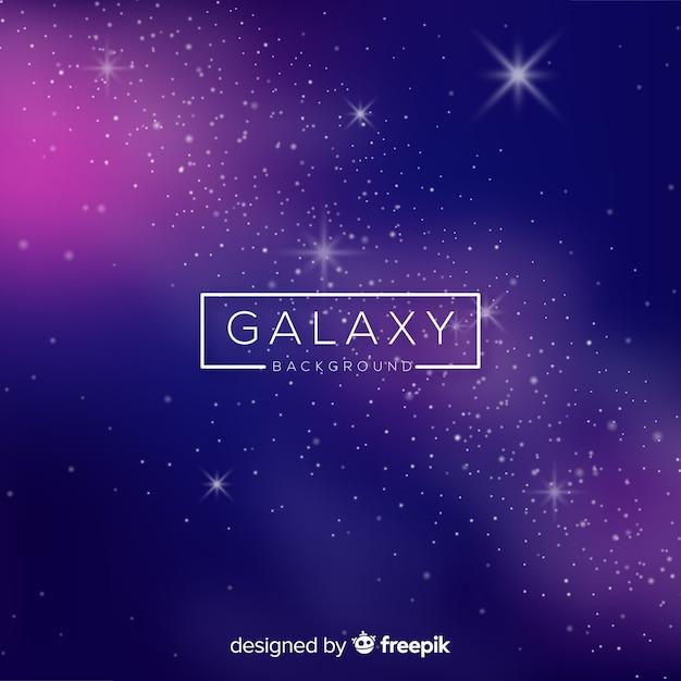 リアルなデザインの現代銀河の背景 無料ベクター