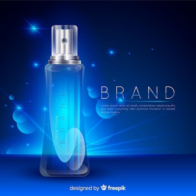 Косметическая реклама с реалистичным дизайном Бесплатные векторы