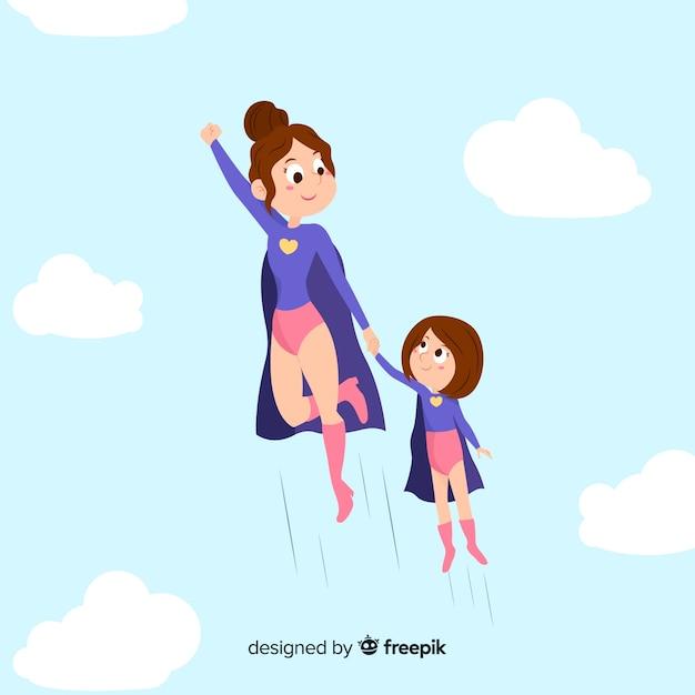 Семья супергероев Бесплатные векторы
