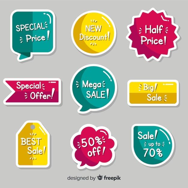 Красочный набор современных значков Бесплатные векторы