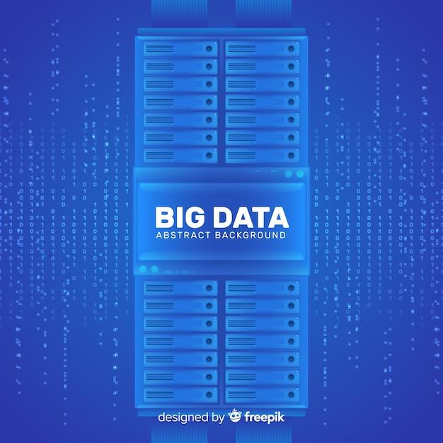 抽象的なスタイルのデザインで大きなデータの背景 無料ベクター