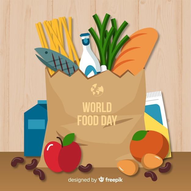 世界の食べ物の背景概念 無料ベクター