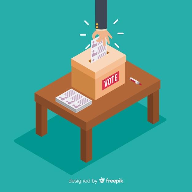 選挙区の等角図 無料ベクター