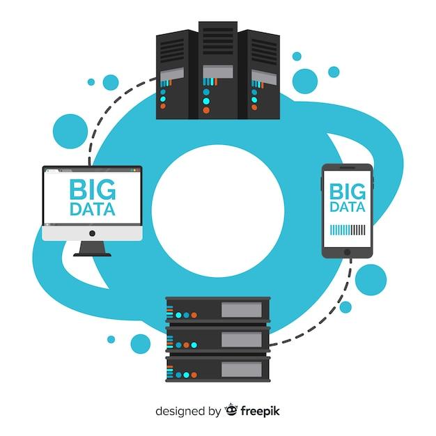 Коммуникация большой фон данных Бесплатные векторы