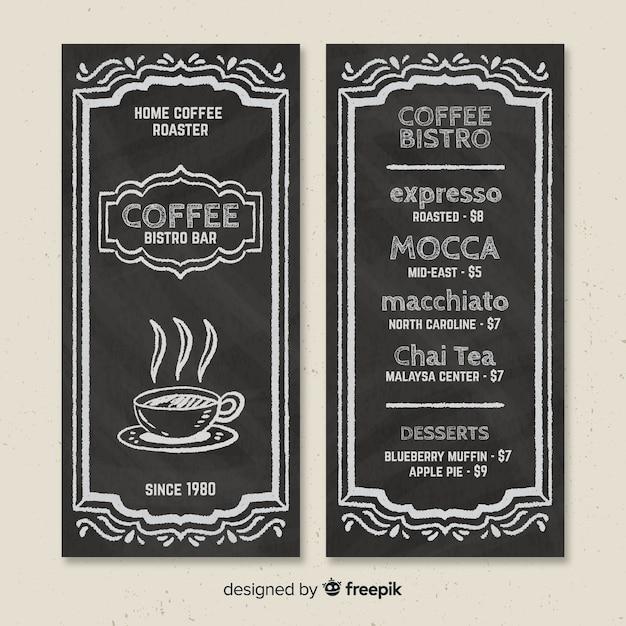 コーヒーメニューテンプレート 無料ベクター