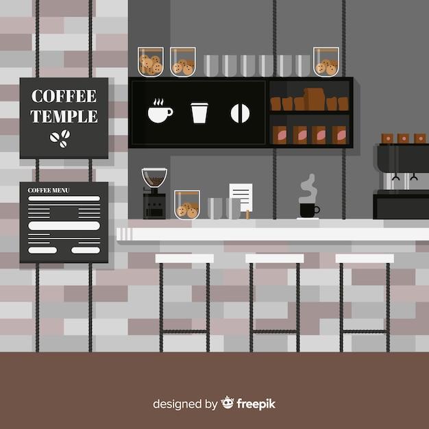 コーヒーバーのイラスト 無料ベクター
