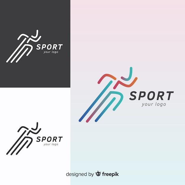 現代スポーツロゴタイプコレクション 無料ベクター