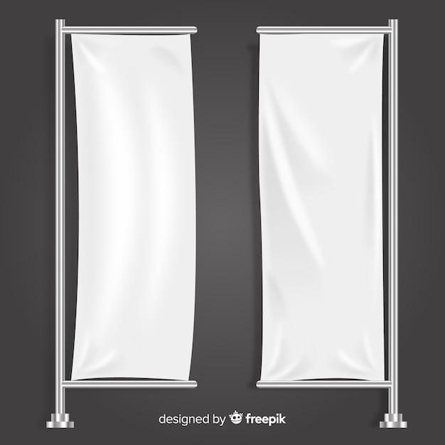 Вертикальная коллекция текстильных баннеров Бесплатные векторы