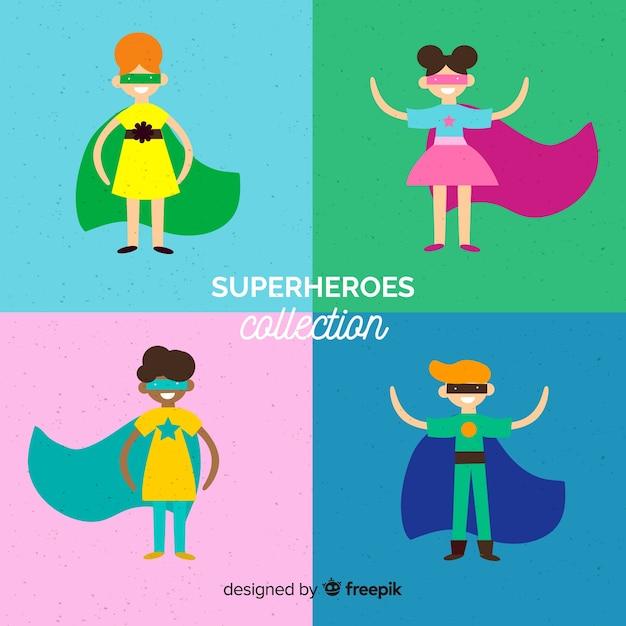 Дети-супергероя Бесплатные векторы