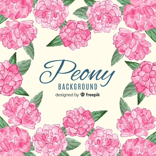 Красивые цветы акварель цветы Бесплатные векторы