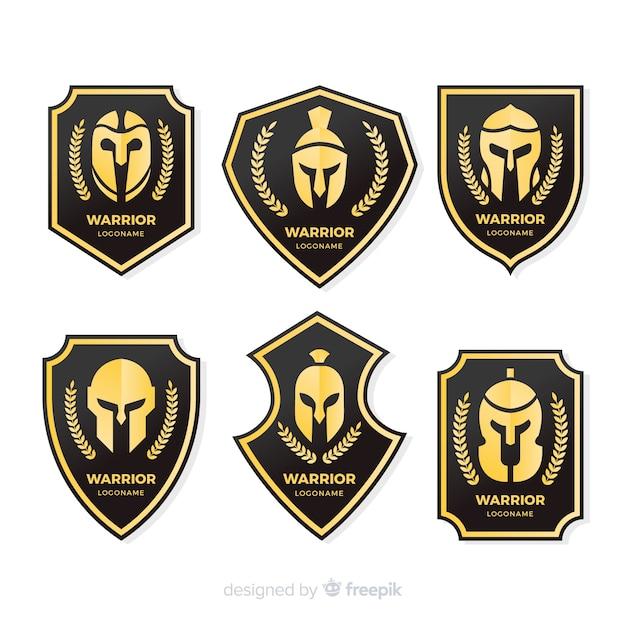 現代戦士スポーツロゴコレクション 無料ベクター
