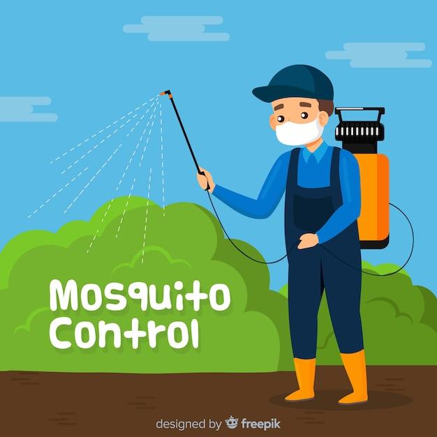 Творческая концепция управления комаром Бесплатные векторы