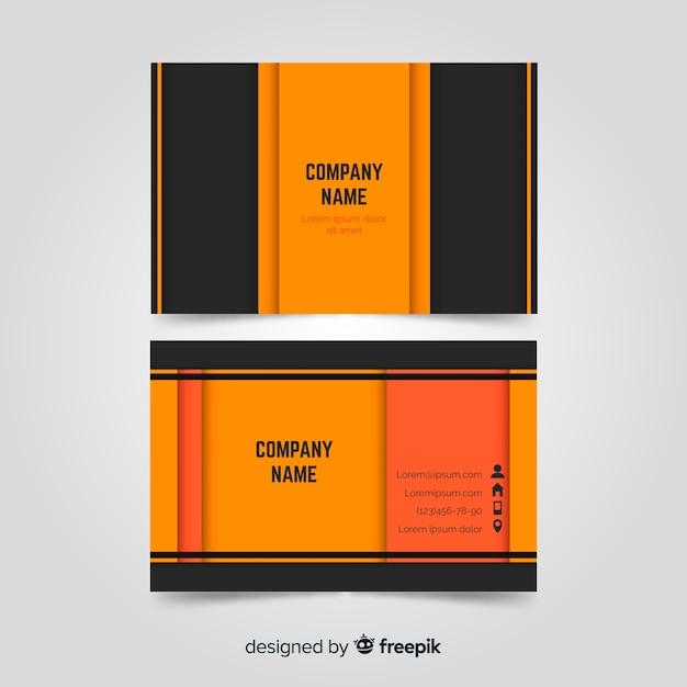 Профессиональный шаблон визитной карточки в элегантном дизайне Бесплатные векторы