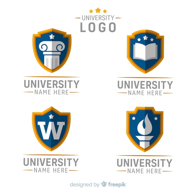 大学のロゴ 無料ベクター