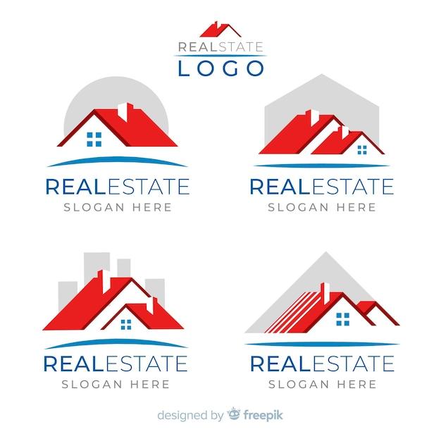 Коллекция логотипа недвижимости Бесплатные векторы