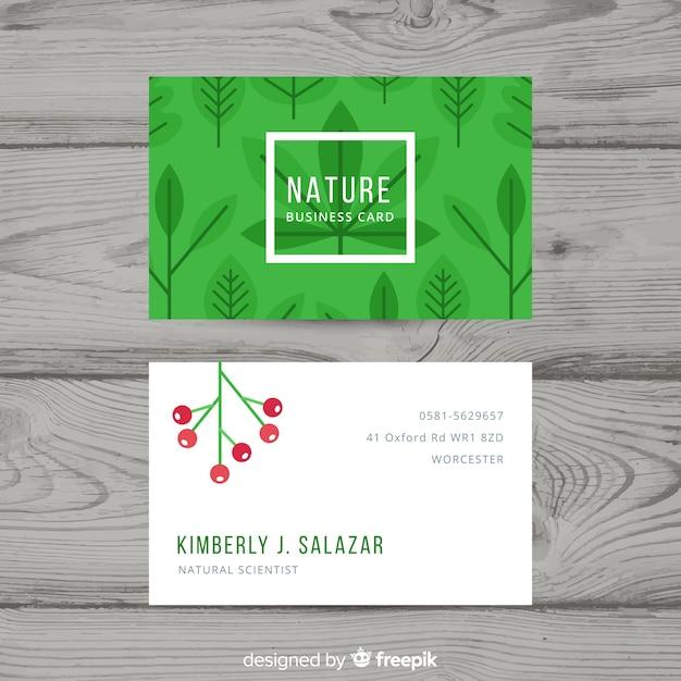 自然やエココンセプトの名刺 無料ベクター