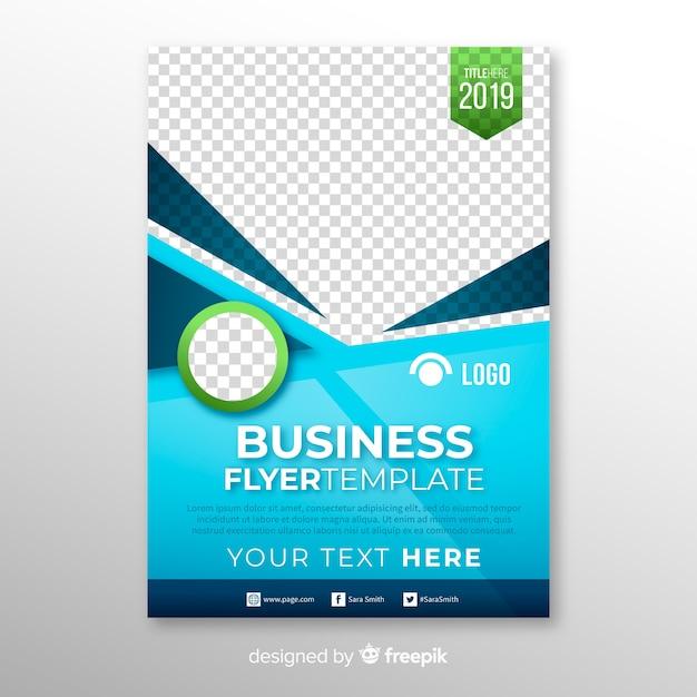 ビジネスチラシのデザイン 無料ベクター