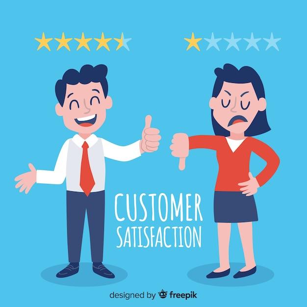 顧客満足度評価 無料ベクター