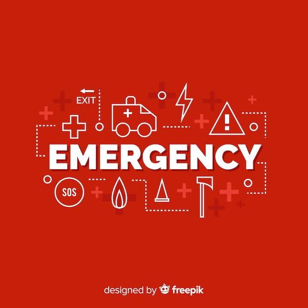 緊急ワード概念の背景 無料ベクター