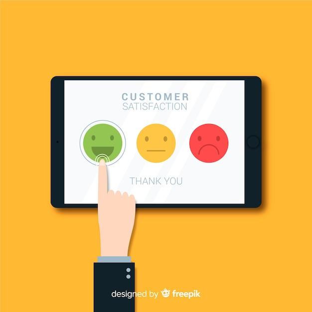 現代の顧客満足コンセプト 無料ベクター