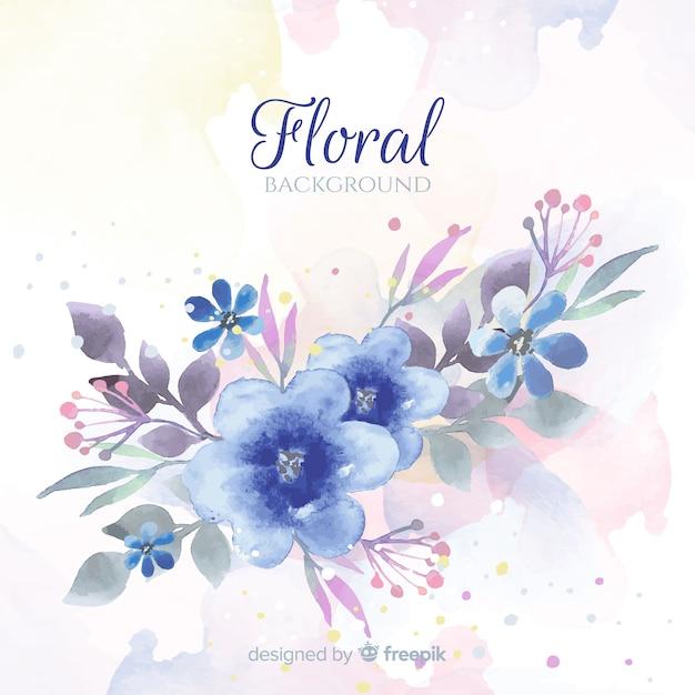 Красивый цветочный акварельный фон Бесплатные векторы