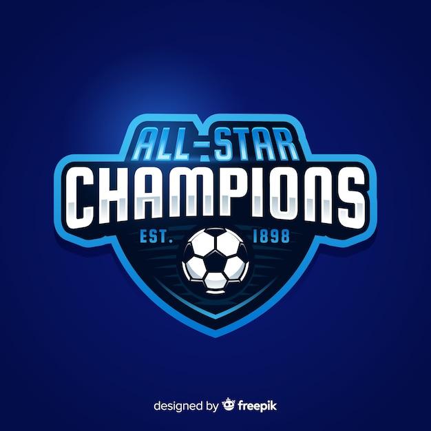 Современный спортивный логотип с плоским дизайном Бесплатные векторы