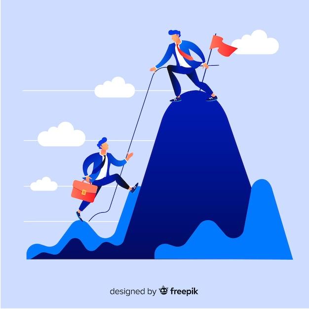 Современная концепция лидерства Бесплатные векторы