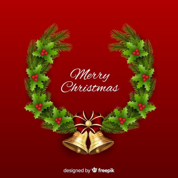 フラットスタイルのクリスマスデコレーション 無料ベクター