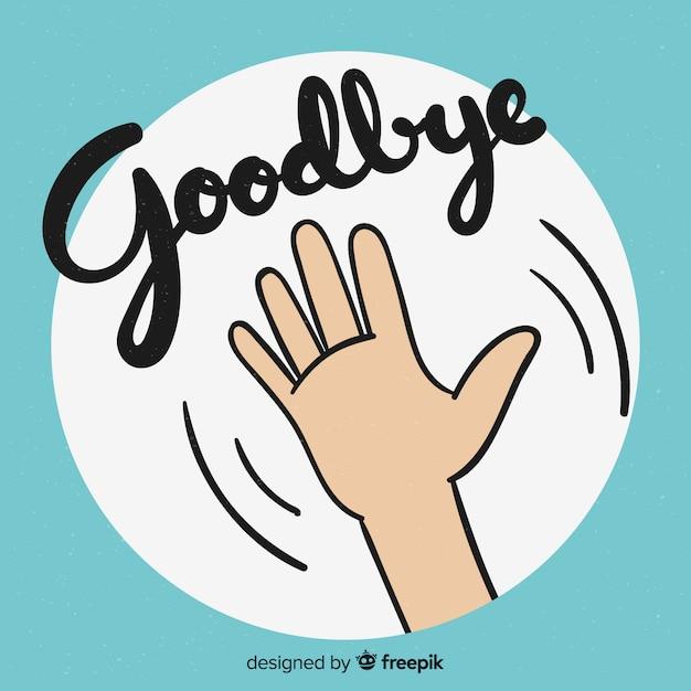さようなら漫画の手紙の背景 無料ベクター