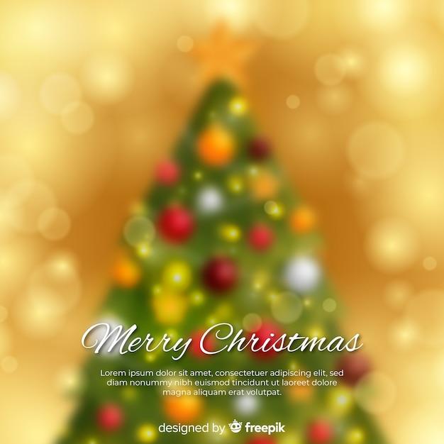 エレガントなクリスマスの背景をぼかし 無料ベクター