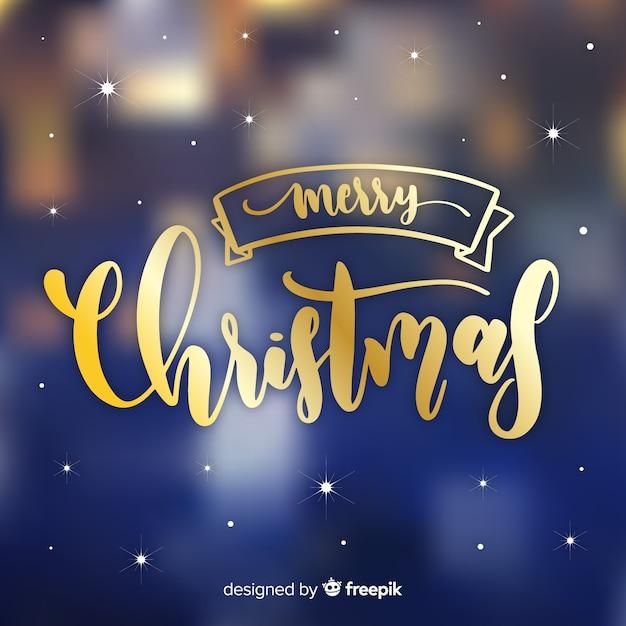 美しいクリスマスレタリング 無料ベクター