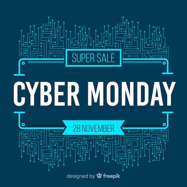 現代サイバー月曜日の販売の背景 無料ベクター