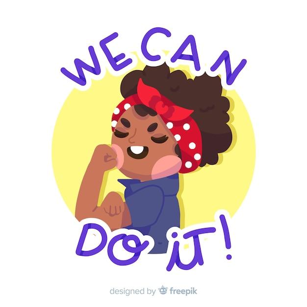 Мы можем сделать это! фон Бесплатные векторы