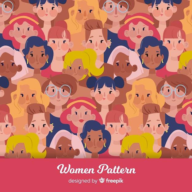 現代の国際女性パターン 無料ベクター