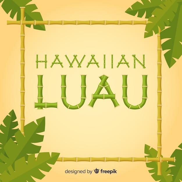 竹のハワイアンルアウの背景 無料ベクター