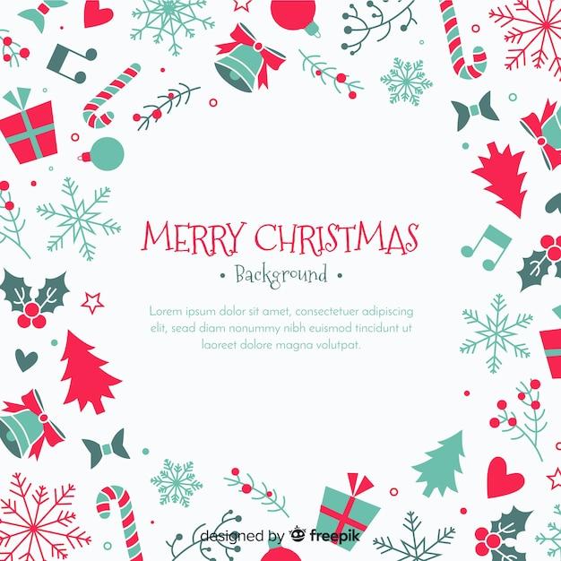 クリスマスの背景 無料ベクター