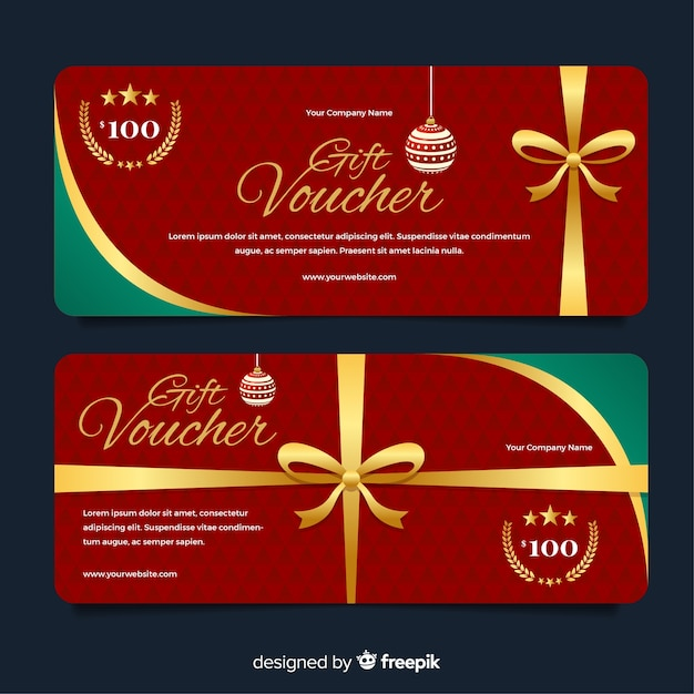 Подарочный сертификат Бесплатные векторы