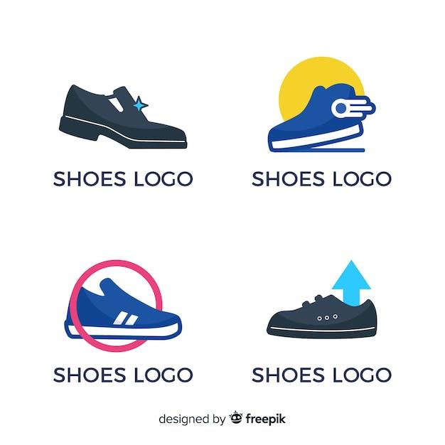 Коллекция беговых ботинок Бесплатные векторы