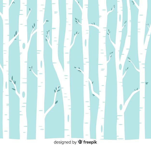 雪の多い森の背景 無料ベクター