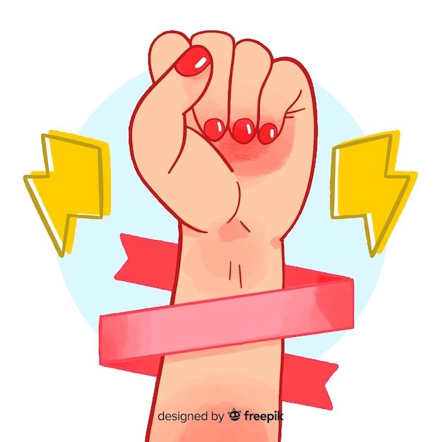 女の子の拳のシンボル 無料ベクター