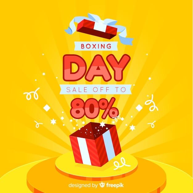 День продажи бокса Бесплатные векторы