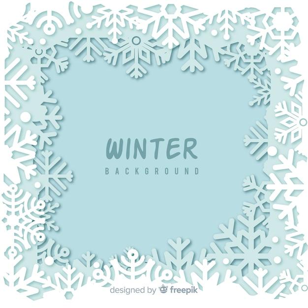 冬の背景 無料ベクター