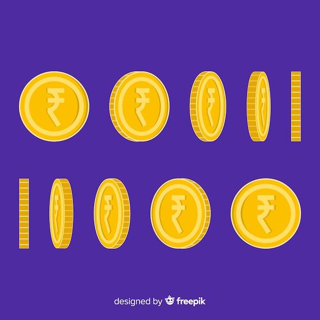 Монеты индийской рупии Бесплатные векторы