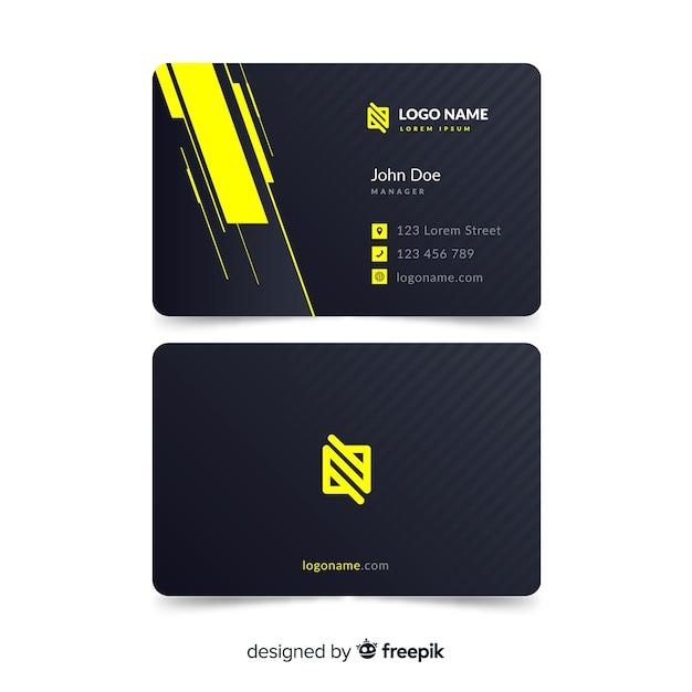 Плоская визитная карточка Бесплатные векторы