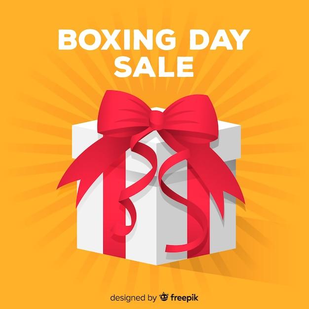 ボクシングの日の販売のバナー 無料ベクター