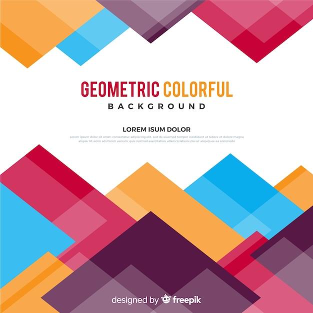 Геометрический красочный фон Бесплатные векторы
