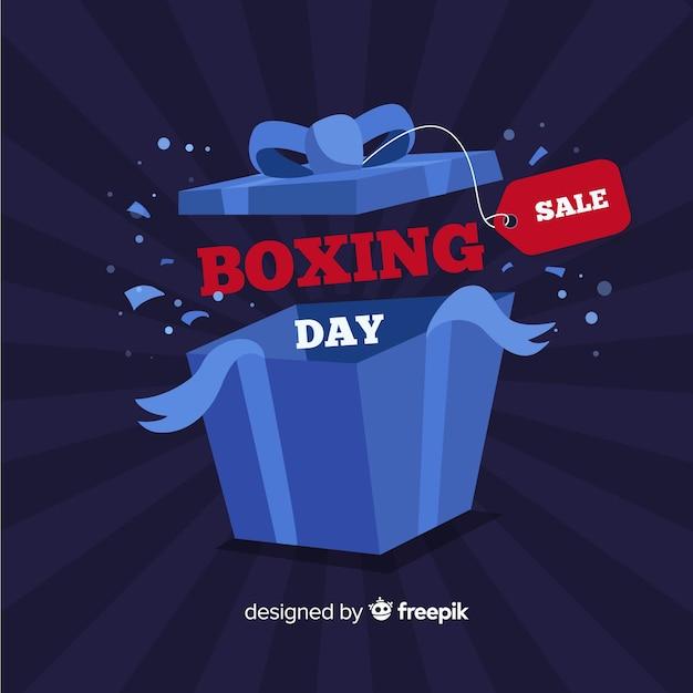 オープンボックスのボクシングの日の背景 無料ベクター