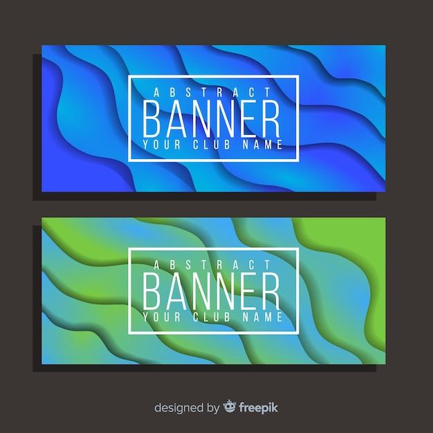 Абстрактный баннер Бесплатные векторы