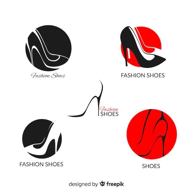 ファッションシューズロゴコレクション 無料ベクター